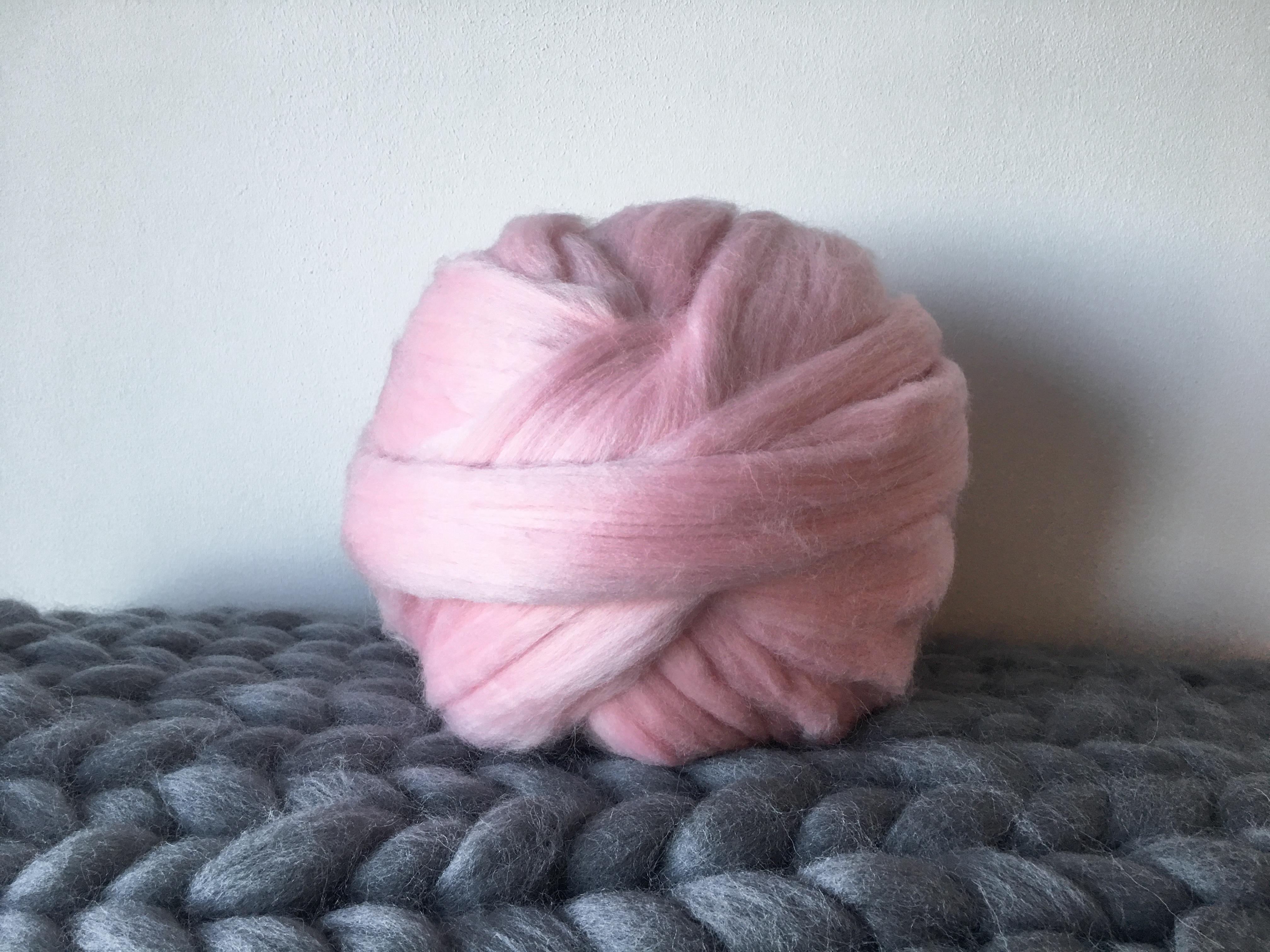 Giant Knitting Needles And Wool Uk : Giant wool yarn pink british jumbo