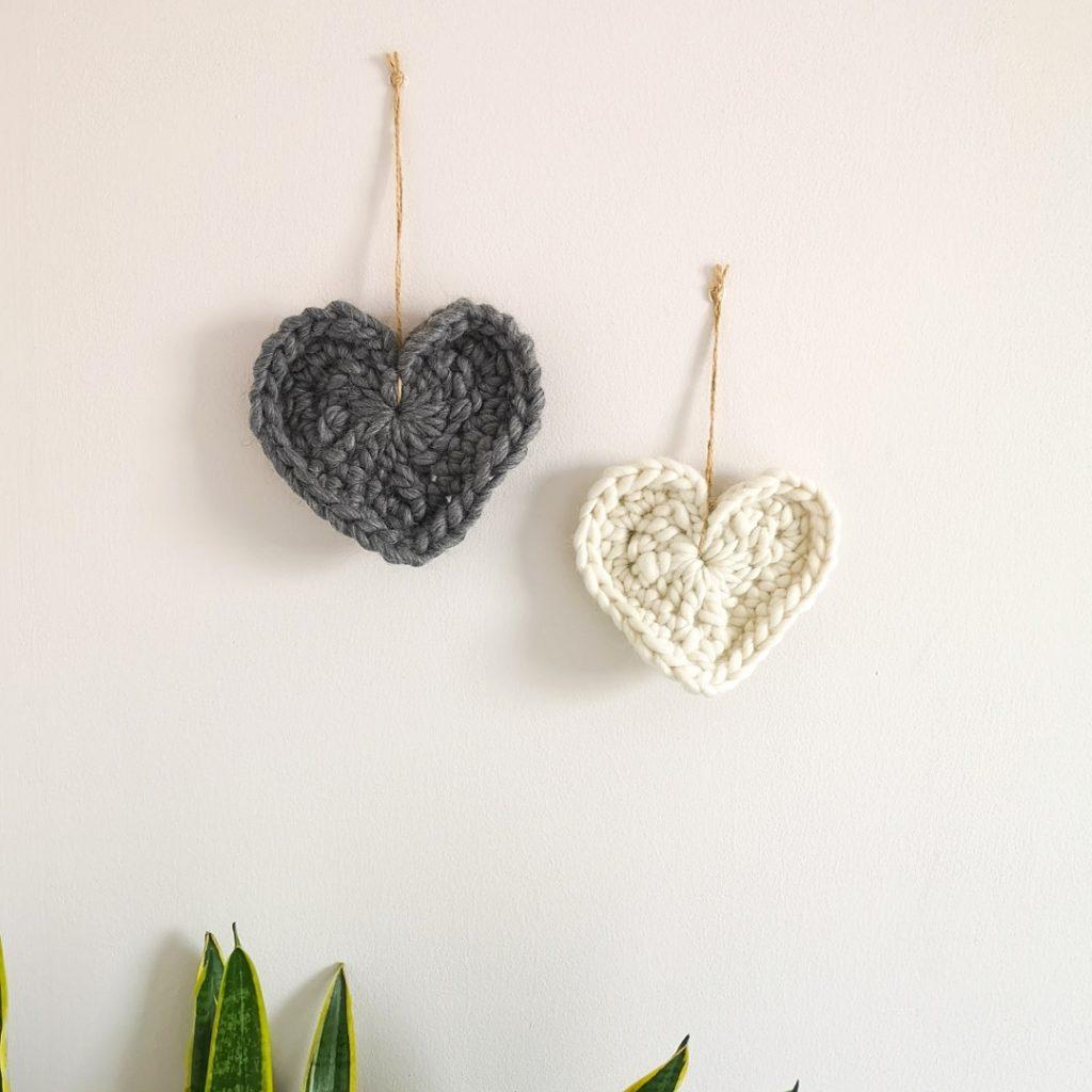 Chunky Crochet Hearts